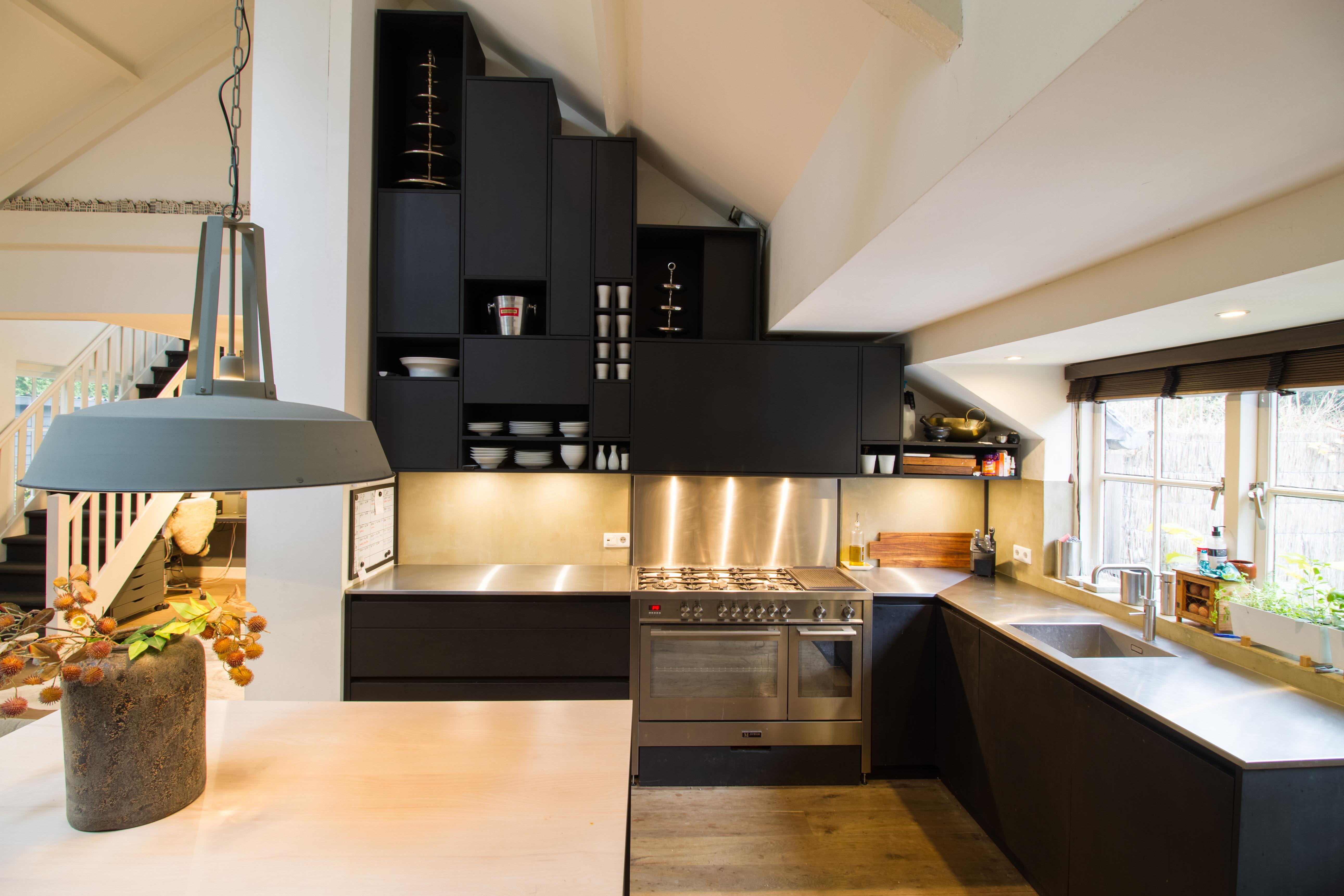 Zwart Houten Keuken Hirsch Kasten Op Maat