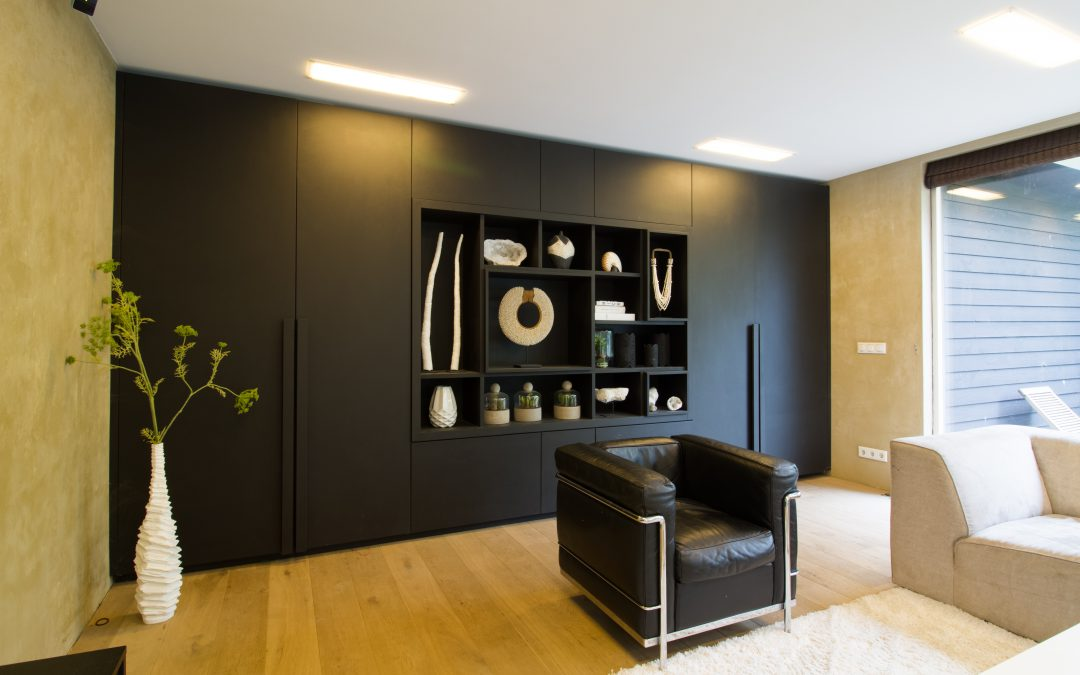 Kast en room divider in een